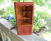 American Southern painted corner cabinet for Dollhouse 1:12 scale