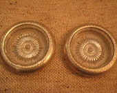 Set of Two Sterling Rimmed Coasters
