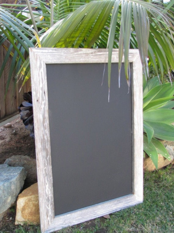 Large Magnetic Chalkboard Distressed Wood: Wedding, Kitchen, Office, Restaurant, Vision board