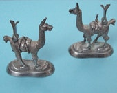 Llama Sterling Silver Place Card Holders from Peru