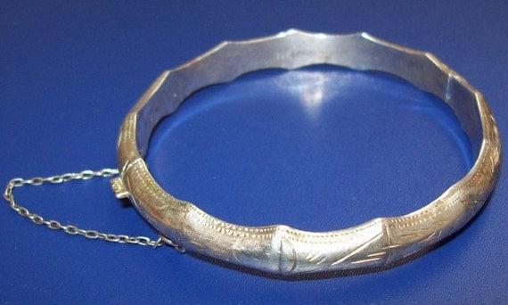 Vintage Sterling Silver Bamboo Bracelet