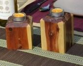 Candle Pillar Set of 2- Cedar