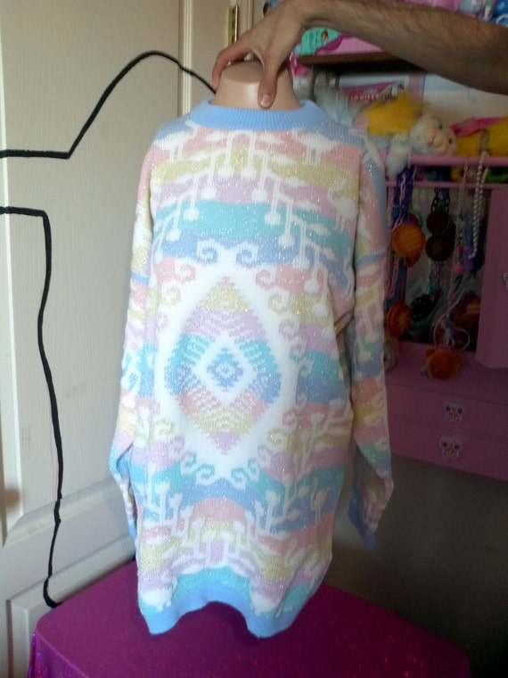Pastel Rainbow - Southwestern - XL Sweater