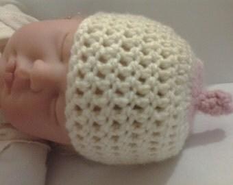 Custom Personalized Baby Crocheted Boob Beanie Nursing Hat