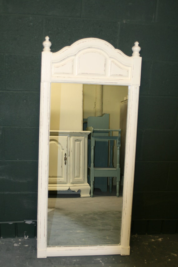 Tall Veranda Ivory Mirror