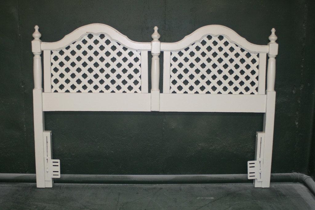 Criss Cross Headboard In Veranda Ivory