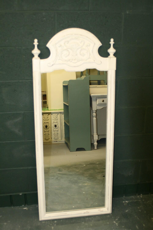 Large Distressed Veranda Ivory Mirror