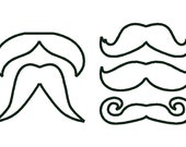 Mustaches - machine embroidery appliqué and fill stitch designs, download - for hoop 4x4, 5x7 and 6x10