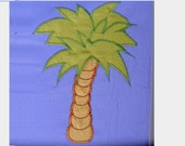 Palm tree - machine embroidery applique and fill stitch design - for hoop 4x4, 5x7, 6x10 - INSTANT DOWNLOAD