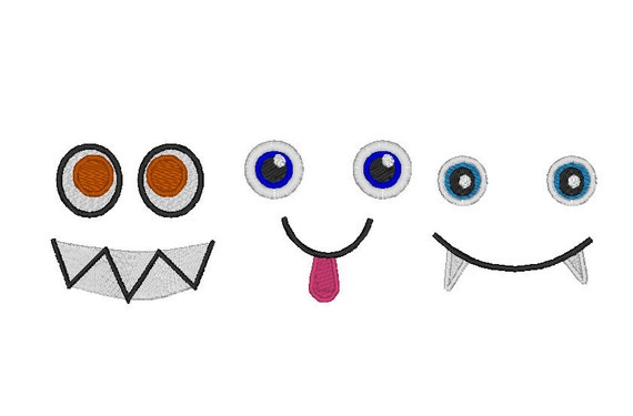 Your Monsters Toy eyes - machine embroidery design, INSTANT DOWNLOAD  - 3 types 4x4