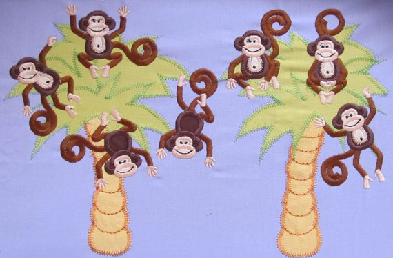 DISCOUNT 50% for 11 monkeys set  machine embroidery applique designs - instant download - for hoop 4x4