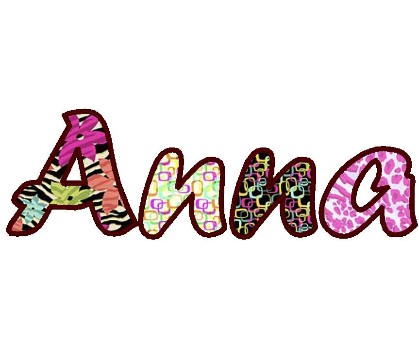 Handwriting cute font machine embroidery applique designs