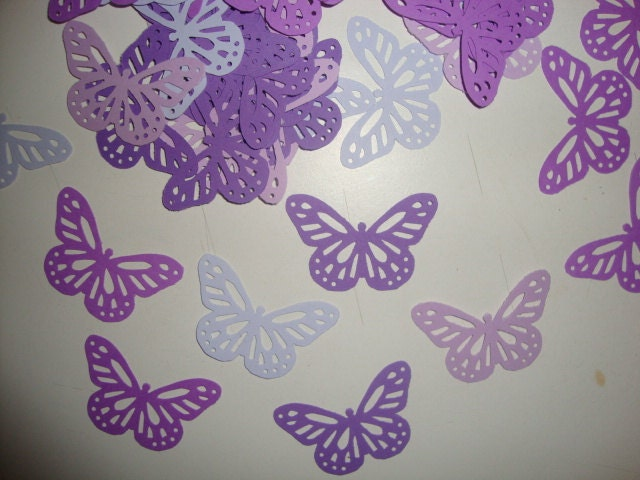 FREE SHIPPING 50 purples butterfly confetti by jessicasue34