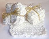 Soft crochet cotton wash cloths