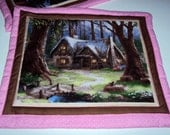 Quilted Placemat set - Snow White -RESERVED FOR JULIE
