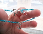 Store Closing Sale - Anchors Away Blue Chain Bracelet