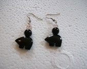 Store Closing Sale - Black and white bear earrings