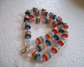 STORE CLOSING SALE - Rainbow Barrel Bead Necklace