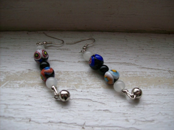 Store Closing Sale - Funky black and white earrings