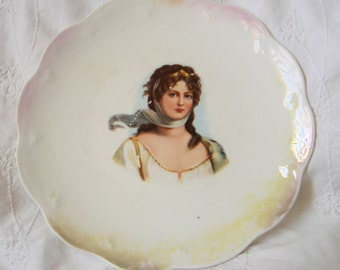 Vintage Limoges Portrait Plate-Queen Louise of Prussia