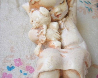 Chalkware Baby and Teddy
