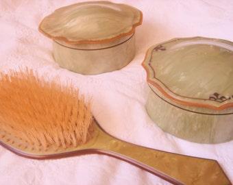 Vintage 1930's Celluloid Vanity Set