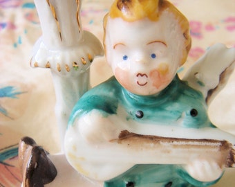 Vintage Porcelain Angel Bud Vase-Occupied Japan