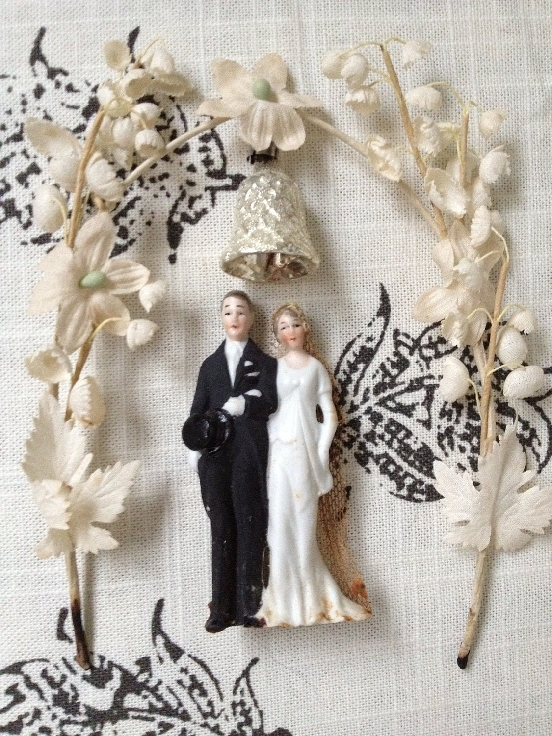 1920 s Bisque Wedding Cake Topper with Arch Germany by