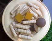 Pasta and Mushrooms Plate - Wood Play Food