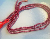 DEAL-DEAL-DEAL 1, 14' full strands-Ruby-faceted- Size 2.5-3mm Approx...