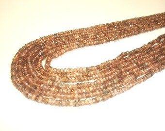 14 Inches --Full Strand--Unique and rare -- ANDALUSITE--Micro Faceted -- Roundels - Size 2.5-3mm Approx