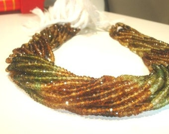 14 Inches --Full Strand-- Micro Faceted --PETRO TURMALINE Roundels - Size 2.5-3mm Approx