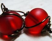 Red Bubble - Earrings