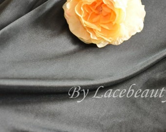 Black Terylene Fabric 59 Inches Wide 1 Yard For Dress Costume Suit Lining