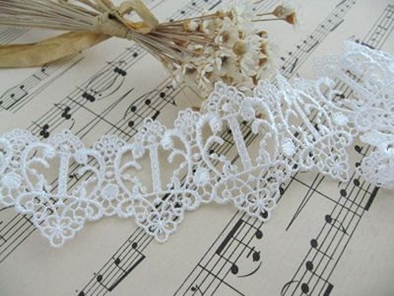 5.48 Yards White Venice Lace Trims Cinderella's Pumpkin Car 1.5  Inches Wide