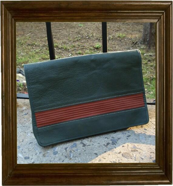 Gorgeous Vintage John Wanamaker Large Leather Clutch Purse