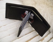 "Men's all leather wallet - ""W-Style"""