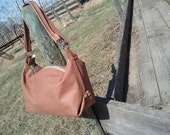 "Leather Handbag Oversized ""Convertible"" Workhorse in Nude"