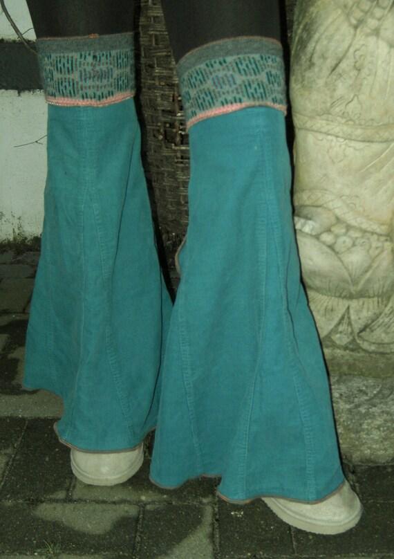 legwarmers velours for leggings pants skirt alternative bohemian flower power flares leggies