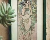 Rose (Framed Art Nouveau Print)