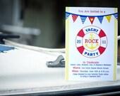 Yacht Rock // Nautical // Birthday Party Invitations