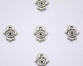 Wholesale Lot of 5 HAMSA Lucky Charm - Hamse Hand Evil Eye Amulet Pendants