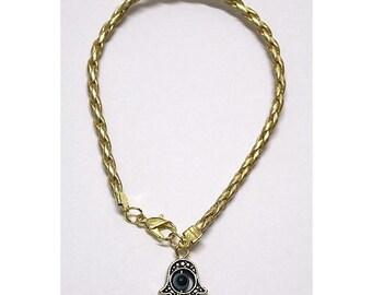 Gold String LUCKY EYE Hamsa Bracelets - Kabbalah Protection