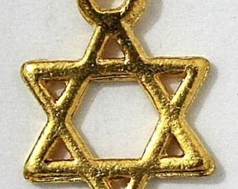 LOT of 5  Israel Star of David Kabbalah Jewish Judaica Pendants - DIY Jewelry