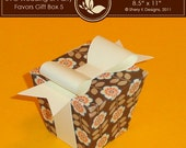 SVG Favors Gift Box 005 with Bow