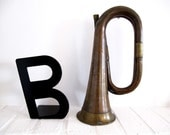 Circa 1900 ,French vintage hunting horn, b as bugle..
