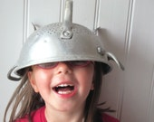 That is not a helmet  (French antique colander, aluminum)