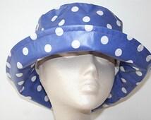 PVC Rain Hat in Violet Spot