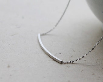 Simple square Tube Necklace - S2125-1