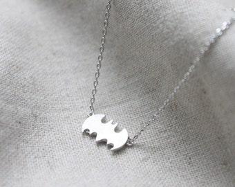 Halloween tiny Batman Necklace - S2191-1